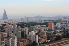 Buildings of Pyongyang stock photography