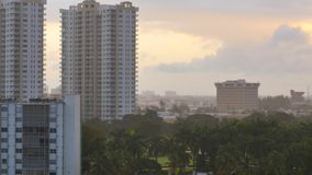 Buildings in the rain 4k video stock footage
