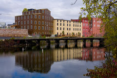 Buildings Reflected on Water Royalty Free Stock Photos