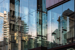 Buildings reflecting in windows Royalty Free Stock Photography