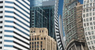 Buildings reflection in a Chicago Cloud Gate Bean Royalty Free Stock Photo