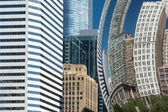 Buildings reflection in a Chicago Cloud Gate Bean Royalty Free Stock Images