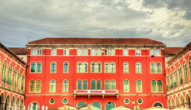 Buildings on Republic Square in Split Stock Photography
