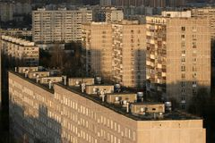 Buildings of residential district in Moscow Royalty Free Stock Photography