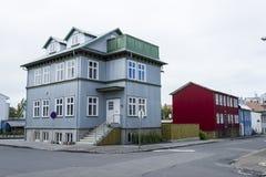 Buildings in Reykjavik Stock Images