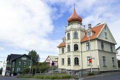 Buildings in Reykjavik Stock Photos