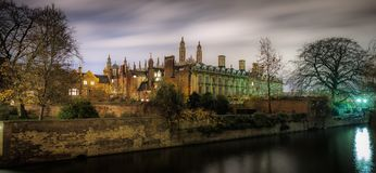 Buildings on the River Cam royalty free stock photography