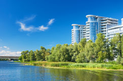 Buildings by the riverside Royalty Free Stock Photo