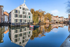 Buildings on riverside in Lier Stock Image