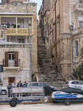 Buildings round the Grand Harbour on the island of Malta Royalty Free Stock Photography