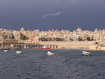 Buildings round the Grand Harbour on the island of Malta Royalty Free Stock Photos