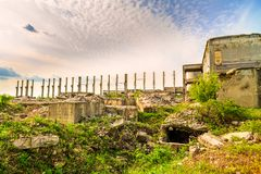 Buildings, ruins Royalty Free Stock Photos