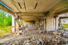 Buildings, ruins. Demolished buildings, industrial ruins, earthquake Stock Images