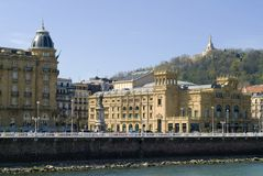 Buildings in San Sebastian Royalty Free Stock Photography
