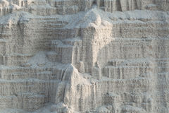 Buildings of sand built by nature at the beach Stock Images