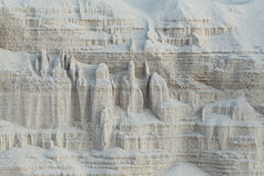 Buildings of sand built by nature at the beach Stock Photos