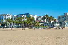 Buildings by the sand in Venice beach Stock Photo