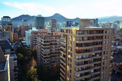 Buildings in Santiago chile Royalty Free Stock Photography