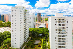 Buildings in Sao Paulo, Brazil.  Royalty Free Stock Images
