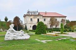 Buildings and sculptures of Zolochiv castle (Ukraine, Lviv Region, Dutch style, built in 1634-36 by Jakub Sobieski) Stock Photos