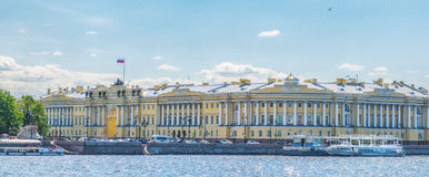 The buildings of the Senate and Synod in St Petersburg in Russia Royalty Free Stock Photography