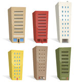 Buildings Set. Illustration of a set of cartoon buildings. Choose some and build your own city Stock Image