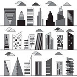 Buildings set. Stock Images