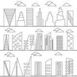 Buildings set. Stock Photo