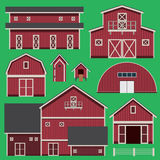 Buildings set with farm Royalty Free Stock Photo