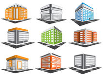 Buildings set Royalty Free Stock Photography