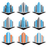 Buildings set Royalty Free Stock Image