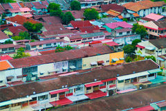 Buildings. Several Buildings in Malacca Malaysia Royalty Free Stock Photography