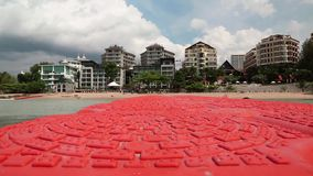 Buildings on the shore of Gulf of Siam in Pattaya, Thailand. View from the sea Stock Photos
