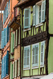 Buildings with shutters stock photos