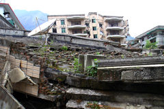 Buildings in Sichuan collapsed after earthquake  Stock Images