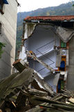 Collapsed Building in earthquake Stock Images