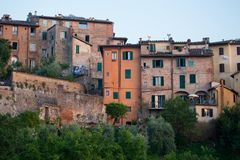 Buildings of Siena, Tuscany. Royalty Free Stock Photo