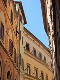 Buildings in Sienna Old Town, Italy Stock Image