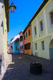 Buildings in the Sighisoara Medieval Citadel Stock Photos