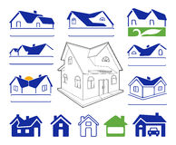 Buildings signs logo set Royalty Free Stock Photography