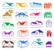 Buildings signs logo set Stock Images