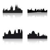 Buildings silhouettes Stock Photography