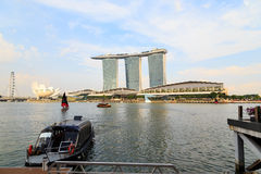 Buildings in Singapore city, Singapore - 13 September  2014 Royalty Free Stock Image
