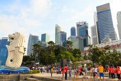 Buildings in Singapore city, Singapore - 13 September  2014 Stock Photo