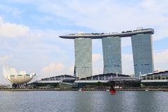 Buildings in Singapore city, Singapore - 13 September  2014 Stock Image