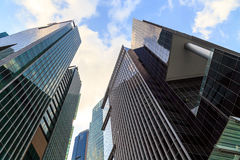 Buildings in Singapore city, Singapore - 13 September  2014 Royalty Free Stock Photography