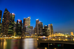 Buildings in Singapore city, Singapore - 13 September  2014 Royalty Free Stock Images