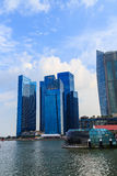 Buildings in Singapore city, Singapore - 13 September  2014 Stock Photography