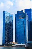Buildings in Singapore city, Singapore - 13 September  2014 Royalty Free Stock Photo