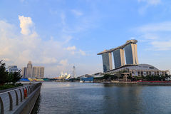Buildings in Singapore city, Singapore - 13 September  2014 Stock Images